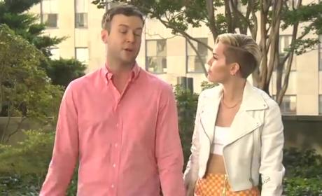 Miley Cyrus Pokes Fun at VMA Performance, Tongue in SNL Promos