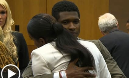 Usher Wins Custody Battle, Hugs Ex-Wife in Court