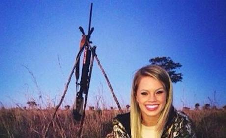 Kendall Jones with Dead Zebra