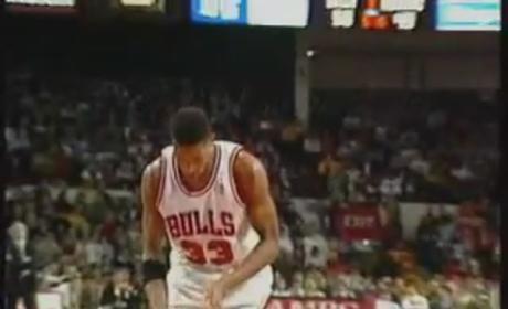 Michael Jordan Dunks Off Missed FT