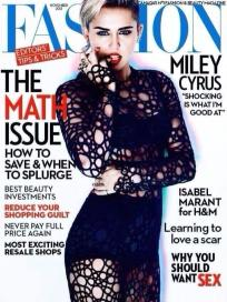 Miley Cyrus Fashion Cover