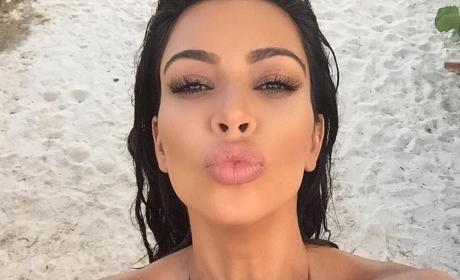 Kim Kardashian Posts Utterly Insane Photo of Her Boobs