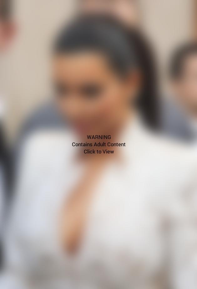 Kim Kardashian Exposes Cleavage