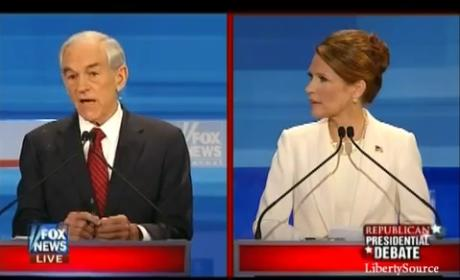 Republican Debate Smackdown: Ron Paul vs. Michele Bachmann
