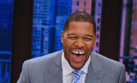 Michael Strahan Laughs