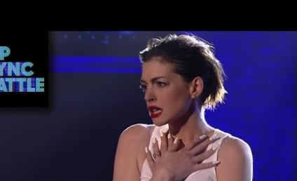 Anne Hathaway Rides Wrecking Ball, Does Amazing Miley Cyrus Impression on Lip Sync Battle