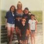 Lindsay Lohan with mom Dina Lohan and family