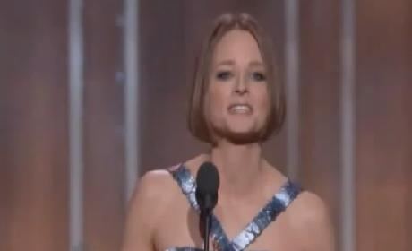 Jodie Foster Comes Out (Indirectly) in Moving Golden Globes Speech