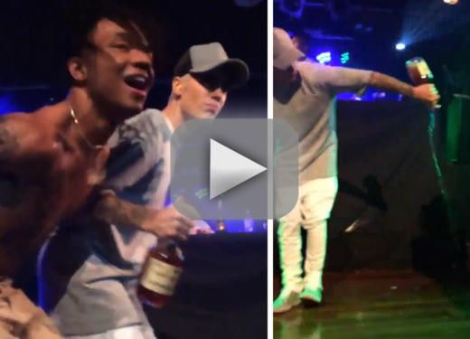 Justin bieber goes furious on theatre chugs hennessy