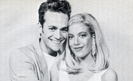 Tori Spelling & Luke Perry's 90210 Throwback Wins Instagram