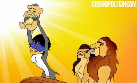 Hakuna Ma-TATAS: Cosmopolitan Imagines Kim Kardashian, Kanye West as Iconic Disney Duos