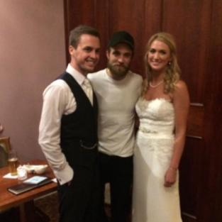 Robert Pattinson with Bride and Groom