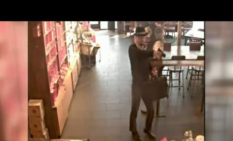 Awesome Criminal Dresses as Heisenberg to Rob Starbucks