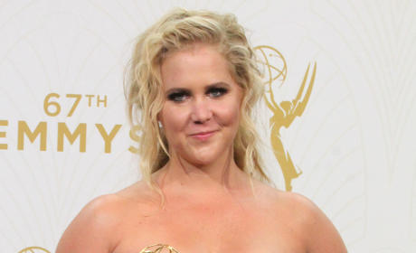 Amy Schumer with an Emmy