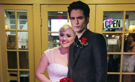 Woman Marries Cardboard Cutout of Robert Pattinson: See the Wedding Photo!