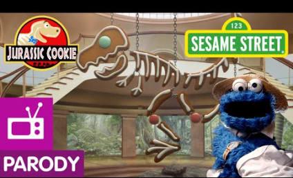Sesame Street Mocks Jurassic Park: Look Out for Cookiesaurus Rex!