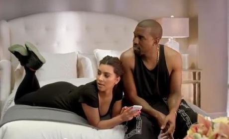 Kim Kardashian and Kanye West Star in Video Music Awards Commercial