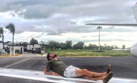 Scott Disick Sunbathes