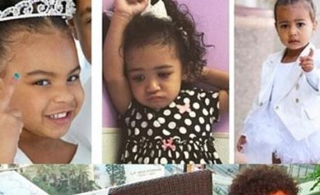 Chris Brown Baby Collage
