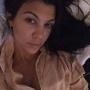 Kourtney Kardashian All Alone in Bed