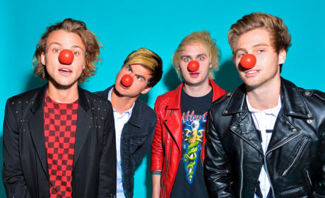 5 Seconds of Summer Red Nose Photo