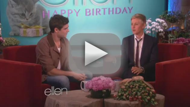 Zac Efron to Ellen: Happy Birthday!