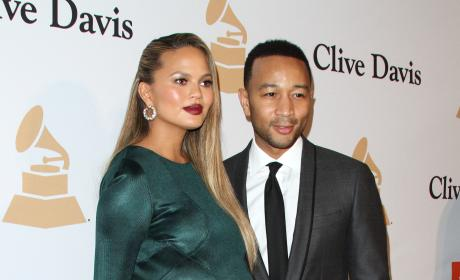 Chrissy Teigen and John Legend:  2016 Pre-GRAMMY Gala and Salute to Industry Icons