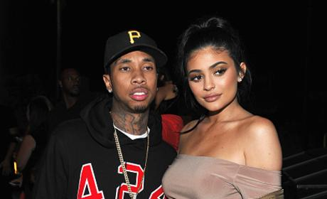 Kylie Jenner & Tyga Attend Boohoo X Jordyn Woods Launch Event