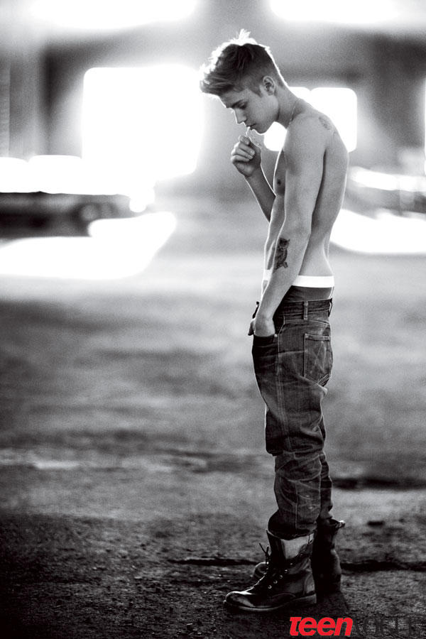 Justin Bieber Shirtless for Vogue