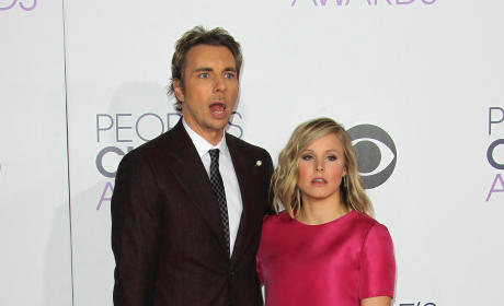 Dax Shepard and Kristen Bell at the People's Choice Awards