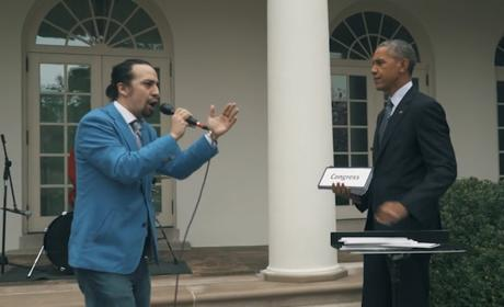 Lin-Manuel Miranda Raps with Obama, Wins Everything Forever