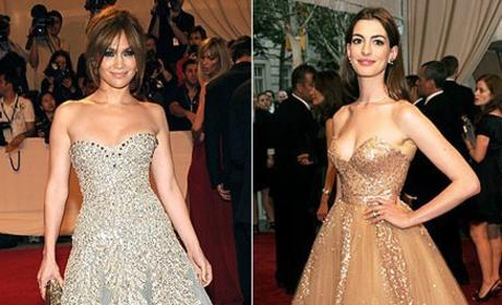 Celebrity Fashion Face-Off: J. Lo vs. Anne Hathaway
