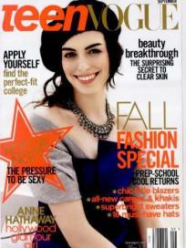 Anne Hathaway in Teen Vogue