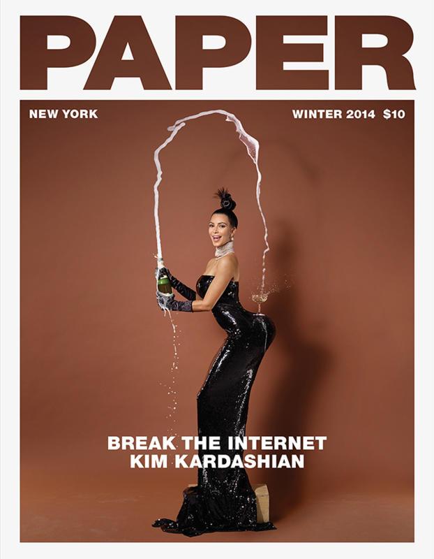 Kim Kardashian Paper Cover