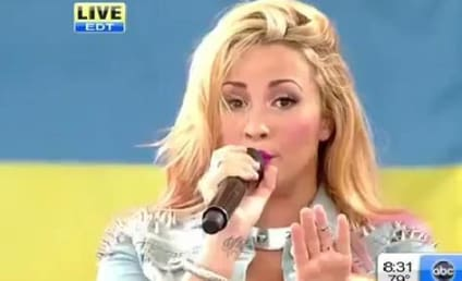 Demi Lovato Performs Double Duty on Good Morning America