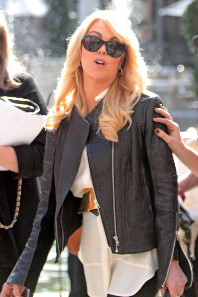 Dina Lohan in Sunglasses