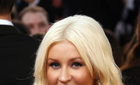 Xtina at the Golden Globes