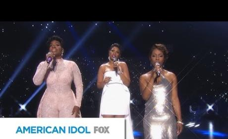 Jennifer Hudson, Fantasia Barrino and LaToya London on Stage