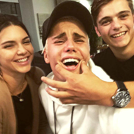 Justin, Kendall and Someone