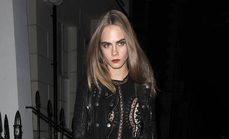 Cara Delevinge Parties at Scala Nightclub in London