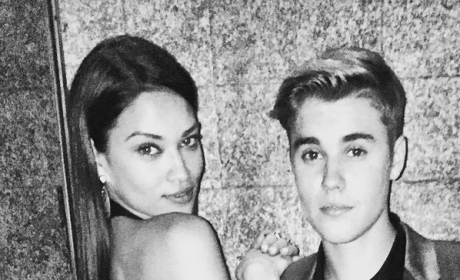 Shanina Shaik Cozies Up to Justin Bieber in Las Vegas