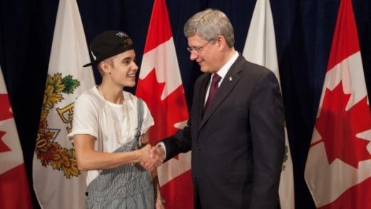 Justin Bieber in Overalls