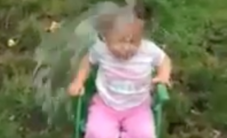 Little Girl Accepts Ice Bucket Challenge, Reacts With Profane Outburst