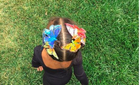 North West in Butterfly Clips