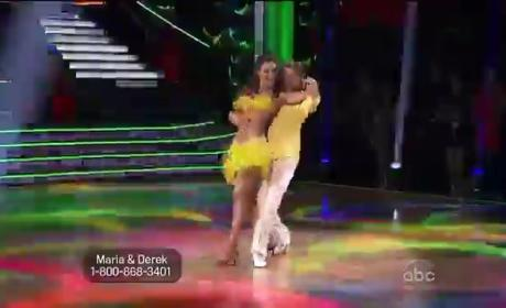 Maria Menounos & Derek Hough - Salsa (DWTS Week 5)