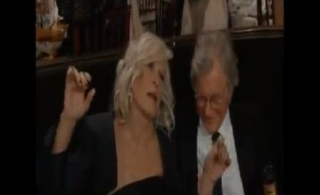 Glenn Close: Drunk at the Golden Globe Awards?!?