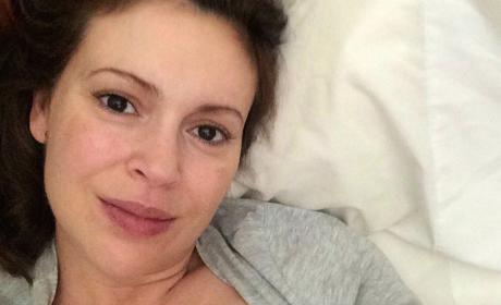 Alyssa Milano is Breastfeeding