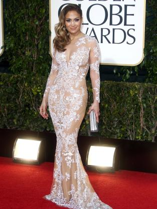 Jennifer Lopez at the Golden Globes