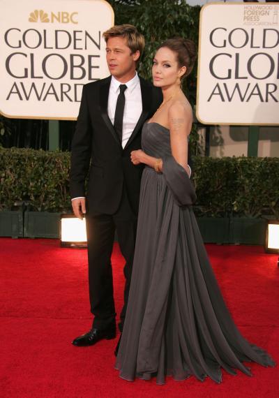 Brad Pitt and Angelina Jolie 2007 Golden Globes Pic