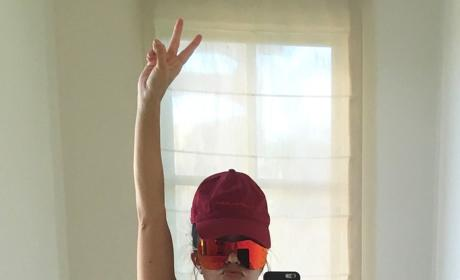 Kourtney Kardashian Covers Eyes, Little Else in Bikini Selfie